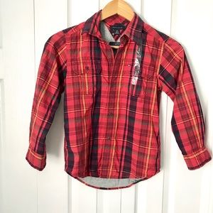 Tommy Hilfiger Plaid Button Down Long Sleeves